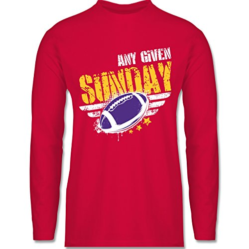 Shirtracer American Football - any Given Sunday Football Minnesota - Herren Langarmshirt Rot