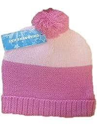 Pour enfants/filles bande thermique chapeaux avec Bobble 2 abat-jour imprimé unique taille, rose