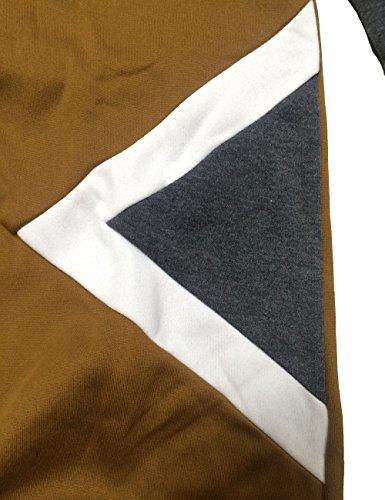 Herren Kapuzepullover Sweatshirt Glestore Brau Schwarz Grau S M L 02Braun