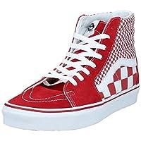 Vans UA SK8-Hi Mens Shoes, White ((Mix Checker) chili pepper/true white VK5), 9 UK (43 EU)