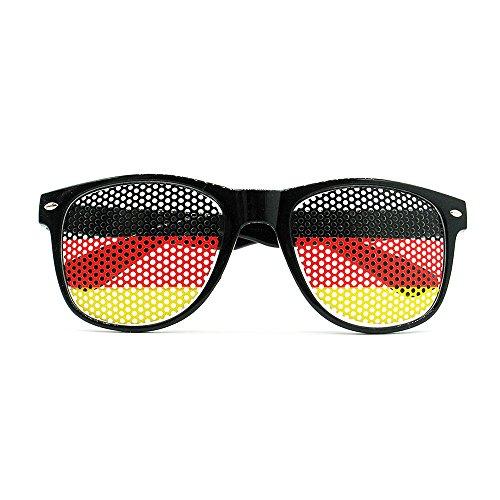 Ndier Fußballfans Sonnenbrillen in Nationalflagge Stil zur WM 2018 Weltmeisterschaft, Fanartikel Brillen(Deutschland)