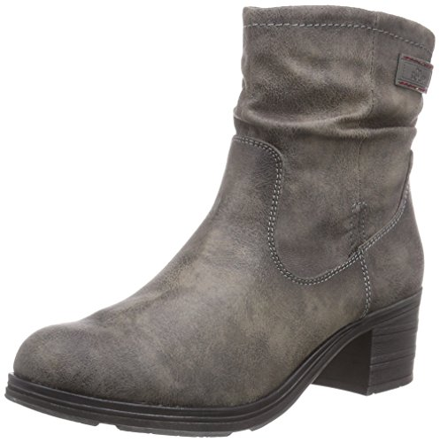 s.Oliver 25345 Damen Kurzschaft Stiefel Grau (Grey Antic 208)