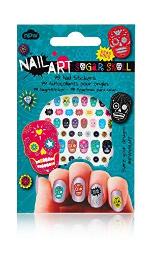 Nail Art Nagelsticker - Zuckerschädel Sugar ()