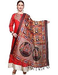Mrinalika Fashion Cotton Silk Digital Print Dupatta (Dupattas For Womens _Salwar Suit Dgdpt18_Multi-Coloured_Free...