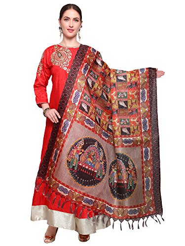 Mrinalika Fashion Cotton Silk Digital Print Dupatta (Dupattas For Womens_Salwar Suit Dgdpt18_Multi-Coloured_Free...