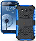 Heartly Armor Back Case For Samsung Galaxy Grand Duos I9082 / Galaxy Grand Neo Gt-I9060 / Galaxy Grand Neo Plus I9060I - Power Blue