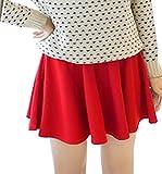 Minetom Mujer Chicas Delgado Minifalda Verano Moda Corto Vestidos Falda Color Del Caramelo Rojo