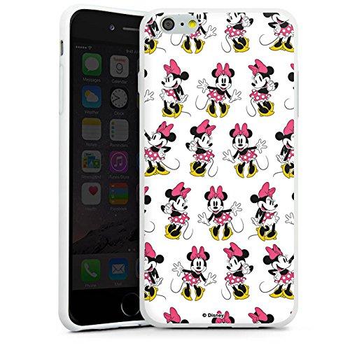 Apple iPhone X Silikon Hülle Case Schutzhülle Disney Minnie Mouse Merchandise Geschenke Silikon Case weiß