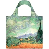 VINCENT VAN GOGH A Wheat Field with Cypresses Bag: Gewicht 55 g, Größe 50 x 42 cm, Zip-Etui 11 x 11.5 cm, handle 27 cm, water resistant, made of polyester, OEKO-TEX certified, can carry up to 20 kg