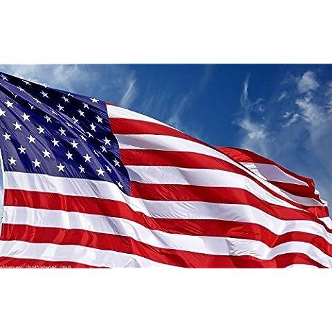 Enorme Bandiera di USA AMERICANA 182 cm x 274 cm