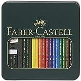 Faber-Castell 110040 - Metalletui mit 12 POLYCHROMOS Farbstiften , 1 Set CASTELL 9000