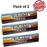 Radise (Pack Of 3) Elements Ultra Thin Rice Slim Kingsize Rolling Paper (32 Leaves)