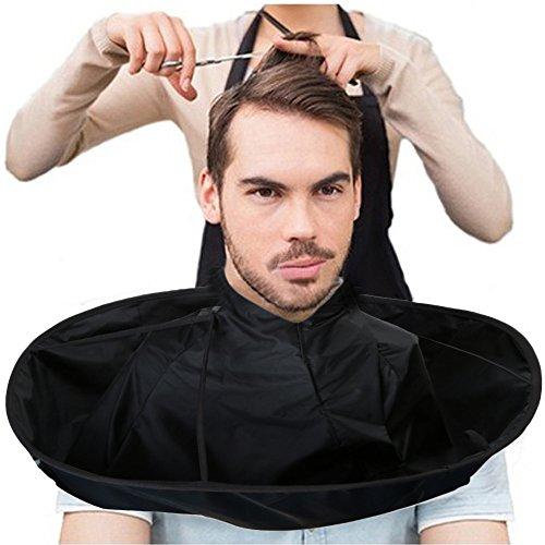 Yogogo 1pcs New Hair Style Professional Coupe De Cheveux Cape Parapluie Barber Tablier Coiffure Tissu Hairstylist Enveloppé Pour ProtéGer Les Adultes Salon Barber Salon Et Home Stylists Using (60cm, Noir)