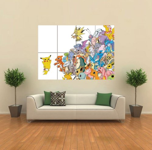 POKEMON-PIKACHU-ART-PRINT-AFICHE-CARTEL-IMPRIMIR-CARTELLO-POSTER-PICTURE-GIANT-HUGE-G939