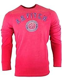 Abercrombie - Homme - Distressed Crew Neck Sweatshirt Shirt Top - Manche Longue