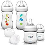 Philips AVENT Naturnah Starterset Sea Dreams II // 2 x 125ml Naturnah Flasche mit Anti-Kolik Sauger 0+ ab Geburt // 2 x 260 ml Naturnah Flasche mit Anti-Kolik Sauger 1 Mo.+