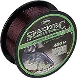 Specitec ' KARPFEN ' Schnur Ø 0,32mm -Farbe: Camou Brown - Angelschnur monofil Zielfischschnur