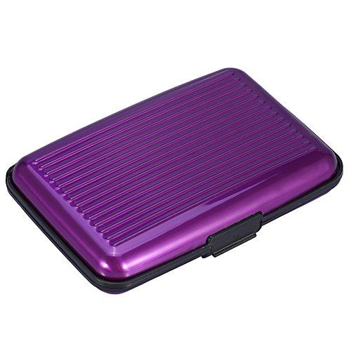 Presupuesto: Tipo de artículo: Portatarjetas Material: aleación de aluminio Tipo de cierre: Presione el botón Cantidad de ranura de tarjeta: 6 ranuras Color: opción de 8 colores Tamaño: Aprox. 110 * 20 * 70 mm / 4.3 * 0.8 * 2.8 pulgadas Peso del paqu...