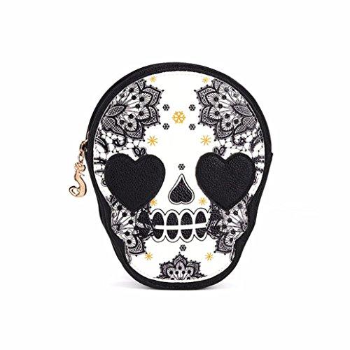 Yogogo Sac à main femme d'épaule Sac à main Messenger Bag Black Skull