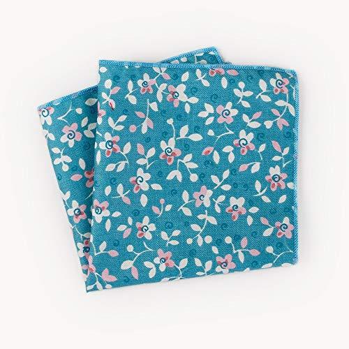 LUGEUK Tasche Handtuch Baumwolle Print Floral Mann Anzug Anzug Tasche Handtuch Party Handtuch Party Hochzeit (Color : B) (Floral Print Handtücher)