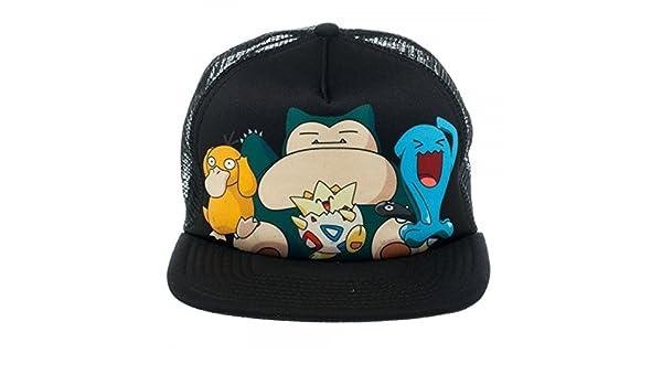4172ebc7b55 bioworld Pokemon Snapback Trucker Hat Snorlax