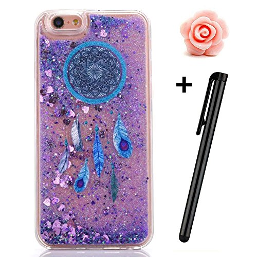 iPhone 6S Plus Hülle,iPhone 6 Plus/6S Plus Hülle Case,TOYYM 3D Kreativ Design Dynamisch Fließen Flüssig Handyhülle PC Hardcase Hüllen für Apple iPhone 6 Plus/6S Plus 5.5inch,Glitter Glitzer Sparkle Ha Dreamcatcher#8