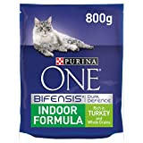 Purina ONE Indoor Dry Cat Food Turkey and Wholegrain 800g - Case of 4 (3.2kg)