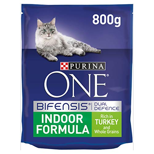 Purina ONE Indoor Turkey & Wholegrains 800 g, Pack of 4 -