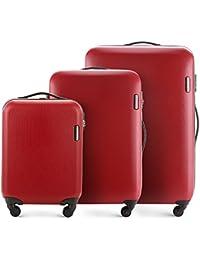 WITTCHEN Bagages à Main, Ensemble de Valise   Matériel: ABS   Dimensions: 81x54x28-55x36x20 cm   Poids: 12.2-2.8 kg 94-27 L   Collection: ABS S-Line