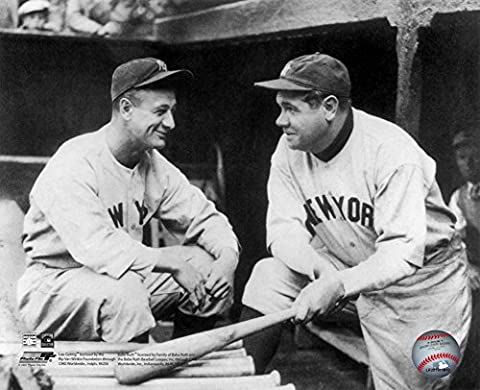 Lou Gehrig & Babe Ruth Glossy