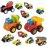 HALO NATION® Unbreakable Construction Vehicle Set 12 Truck Set - JCB + Tractor Trolley + Hywa + Mixer + Excavator + Tanker + Poclaine + Dumper + Crain