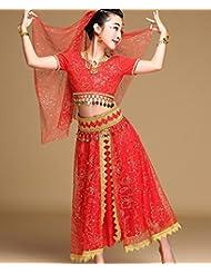 DESY Danza del Ventre Completi per Donna di Seta 85 One Size Danza Abbigliamento sportivo