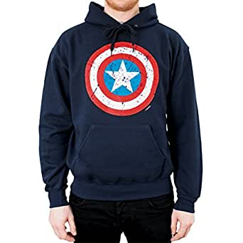marvel mens hoodie 100 cotton official captain america