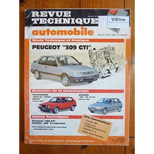 RTA0505/0506 - REVUE TECHNIQUE AUTOMOBILE PEUGEOT 309 GTI