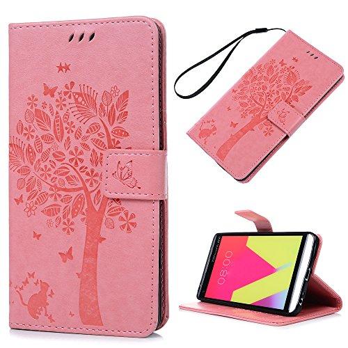 Kasos LG V20, funda de piel, cierre magnético [Flip Wallet Case] Cover...