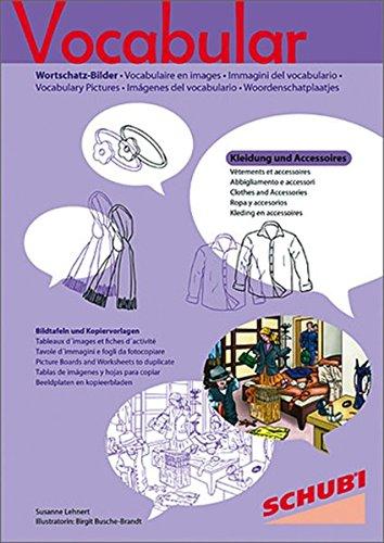 Vocabular Wortschatz-Bilder: Vocabular: Kopiervorlagen Kleidung und Accessoires