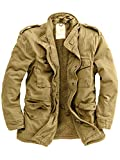 Delta Industries Herren M65 Vintage US Fieldjacket Paratrooper (XL, Beige)