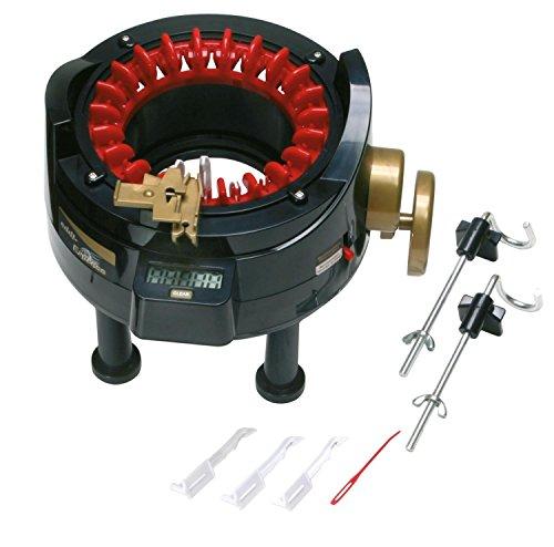 ADDI mulinetto Express 22 aiguilles, tous les types de fils de 4 aux 8 mm, TUBULAIRE Ø 10 - 15 mm, bâche ouvert 15 - 20 cm pour tricotin bonneterie. Instructions en italien.