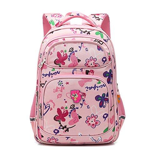 Kinderrucksack Schulrucksack Schultasche Sportrucksack Freizeitrucksack für Mädchen Jungen & Kinder mit der Großen Kapazität (Camo-pink) - Kati Camo