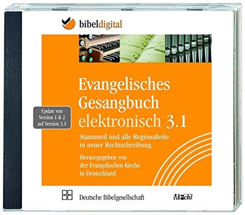 Evangelisches Gesangbuch elektronisch, Update auf Version 3.1, 1 CD-ROMStammteil und Regionalteile in neuer Rechtschreibung. Für Windows 2000 bis Windows 7
