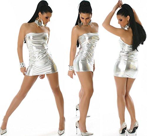 Jela London -  Vestito  - fasciante - Basic - Senza maniche  - Donna Argento