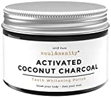soul&sanity - Natürliche Aktivkohle aus Kokosnuss für weiße Zähne | Premium | Zahnaufhellung | Teeth whitening | Zaehne Bleichen