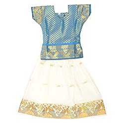 Pkd Girls Ethnicwear Pattupavada Multi-Coloured