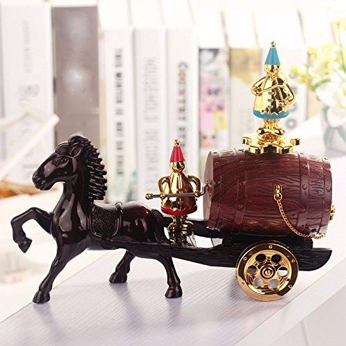 tagsgeschenk Musical Mechanism Klassische Fässer Wagen Musik Box European Style Process Musik Box Musik Dekoration 27 * 8.5 * 22Cm (Wirren, Geburtstag Dekorationen)