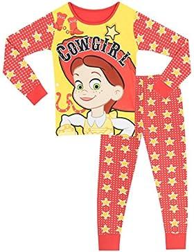 Disney Toy Story - Pigiama a maniche lunghe per ragazze - Jessie - Vestibilita Stretta