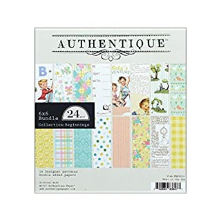 Authentique Paper Double-Sided Cardstock, Multi-Colour, 16.51 x 15.24 x 0.76 cm