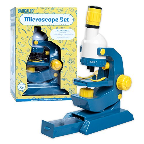 Barcaloo Kids Microscope with Slides - Childrens Play Microscope Kit