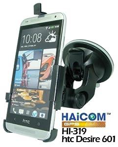 Haicom KFZ-Halterung mit 360° Rotation und Saugfuß für HTC Desire 601 vibrationsfreies 1-Klick Befestigungssystem PDA-Punkt