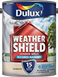 Dulux Weather Shield Textured Masonry Paint, 5 L - Sandstone