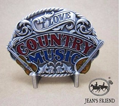 Musik Western Kostüm Country - napolo Western Buckle Belt Cowboy gurtelschnallen New Country-Musik stolz rot Silber blau weiß I Love Country